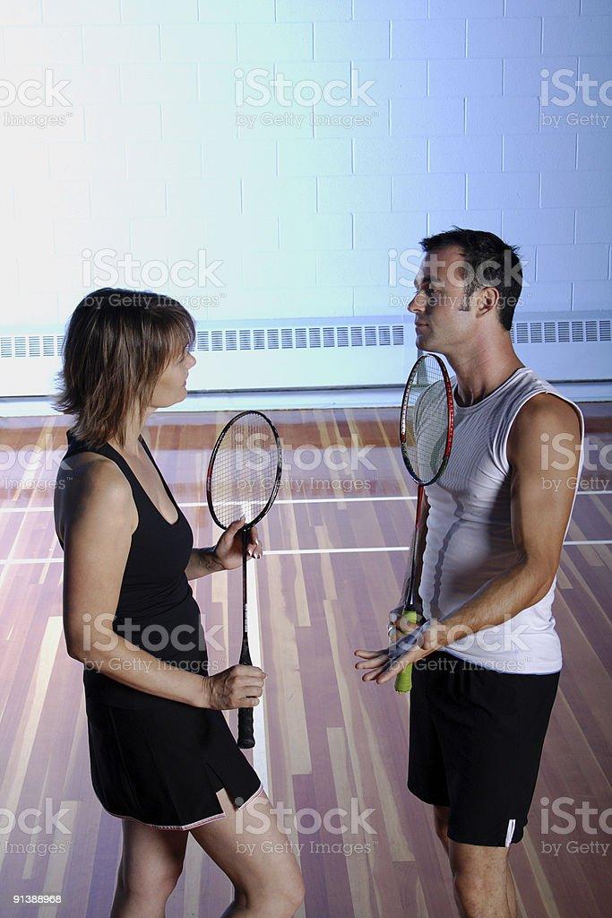 Badminton Couple royalty-free stock photo