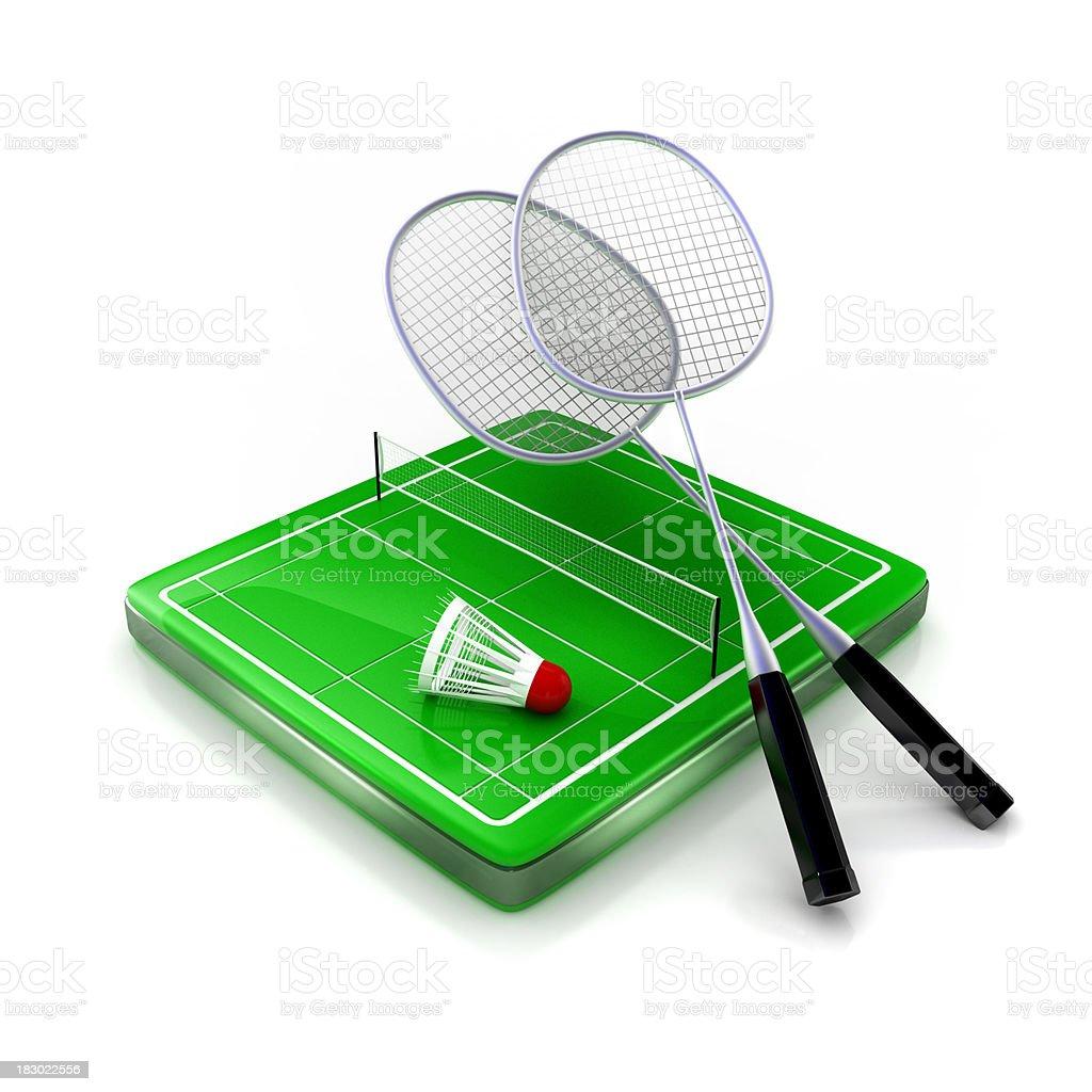 Badminton icon royalty-free stock photo