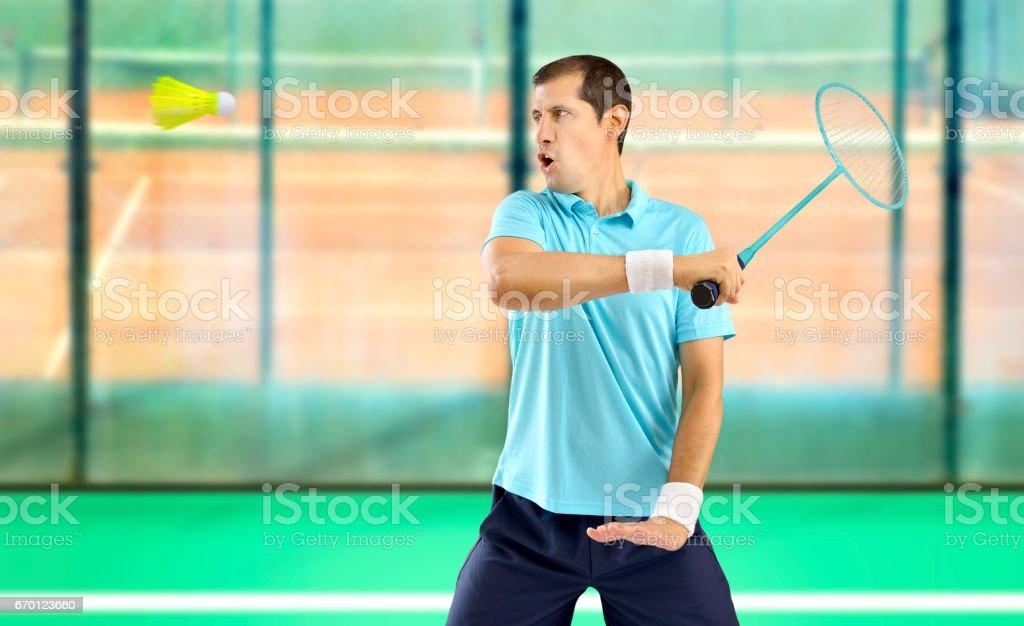 badminton player stock photo