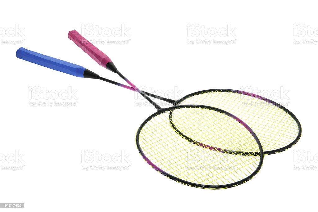 Badminton Rackets royalty-free stock photo