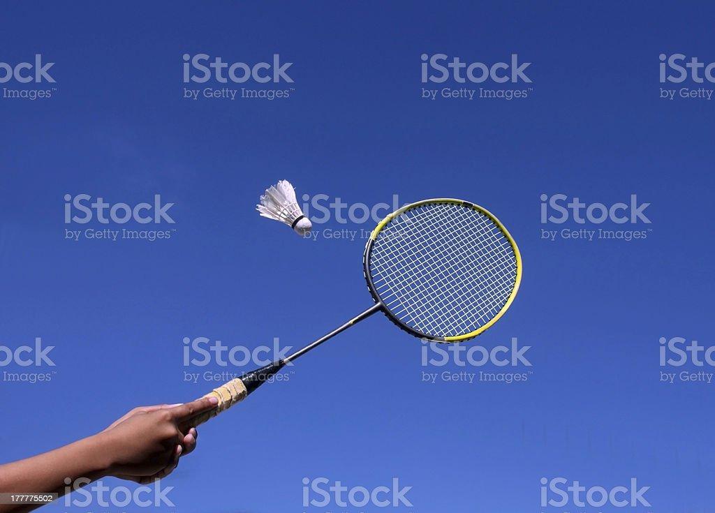 Badminton Racquet royalty-free stock photo