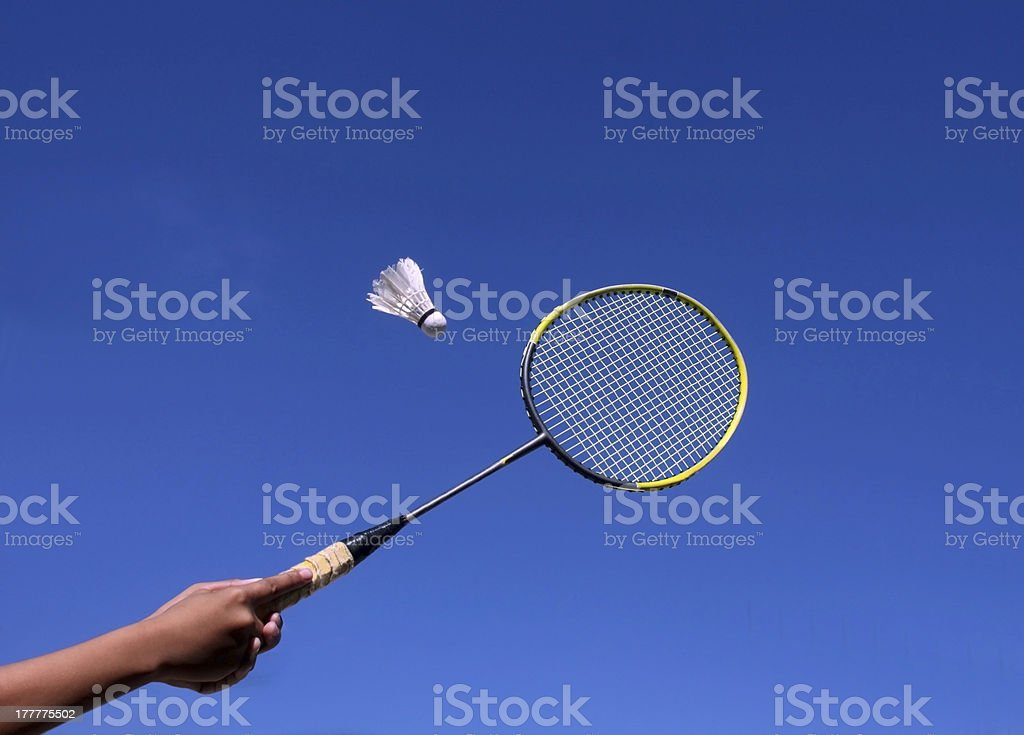 Badminton Racquet stock photo