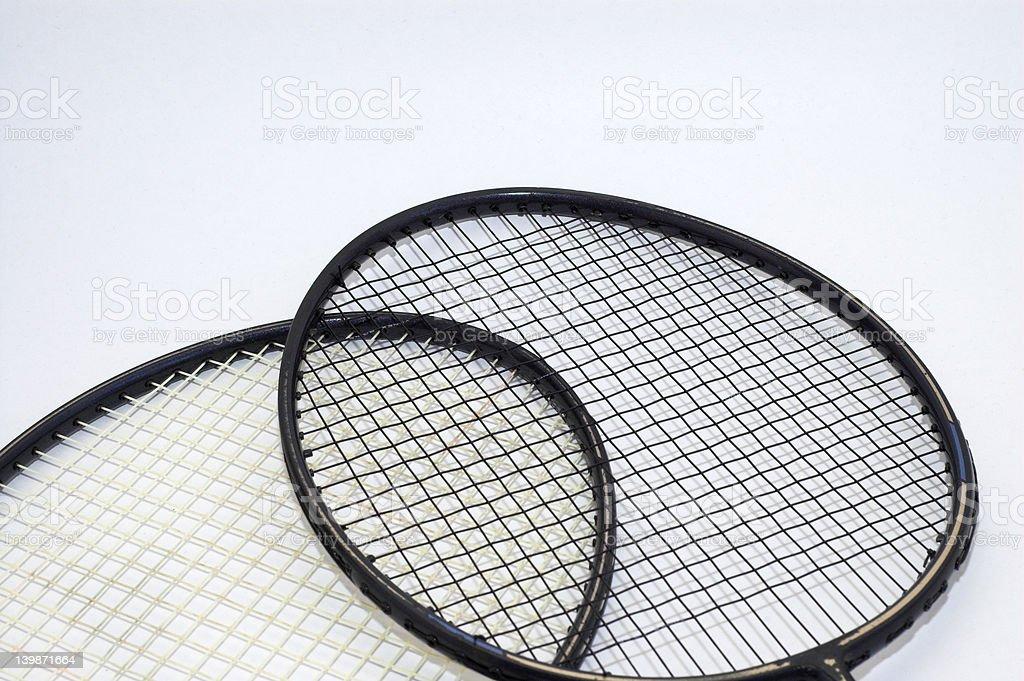 Badminton Racquets stock photo