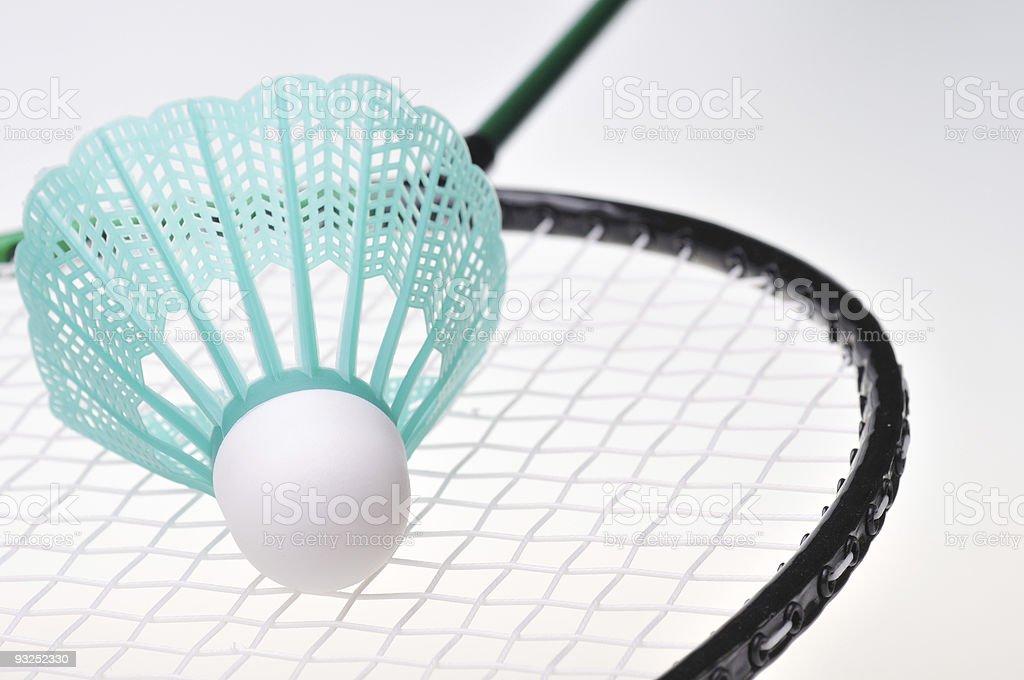 Badminton Shuttle and Racket royalty-free stock photo