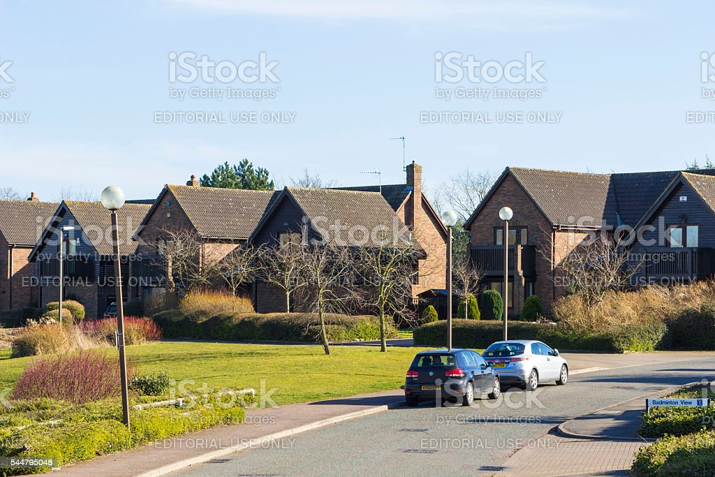 Badminton View, Milton Keynes in England stock photo