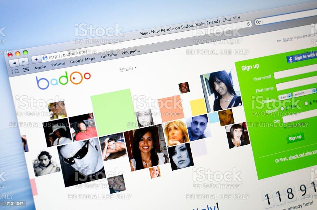 Badoo.com social network stock photo