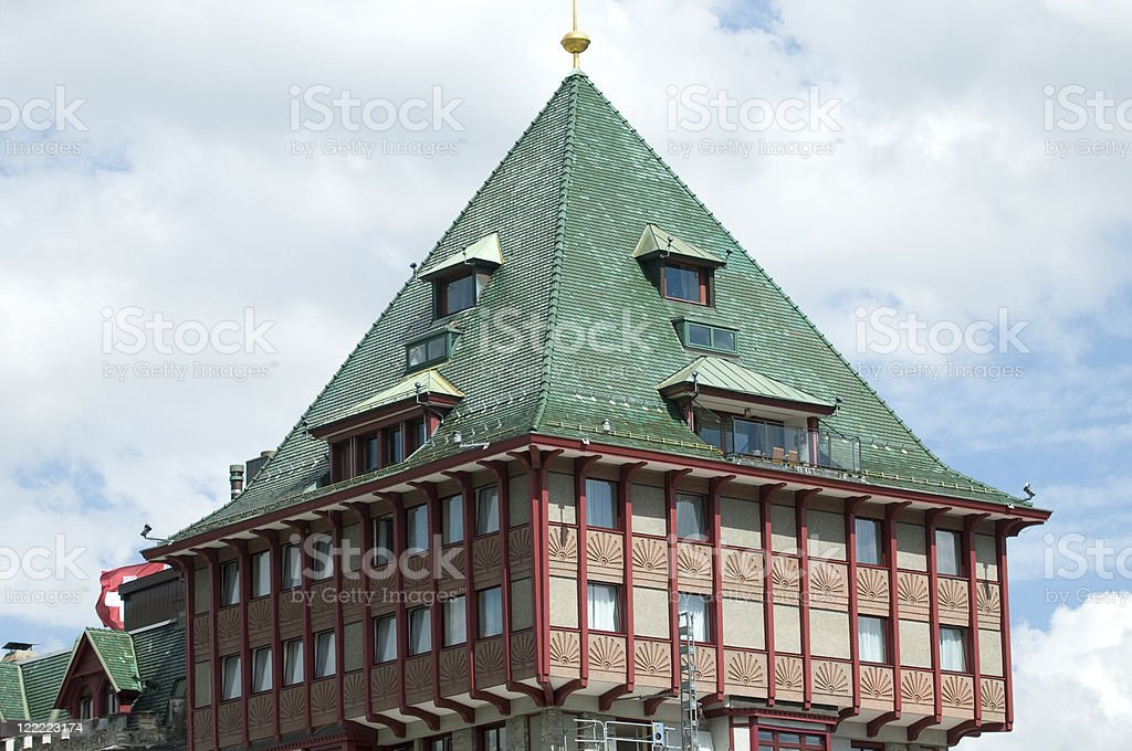 Badrutt's Palace Hotel royalty-free stock photo