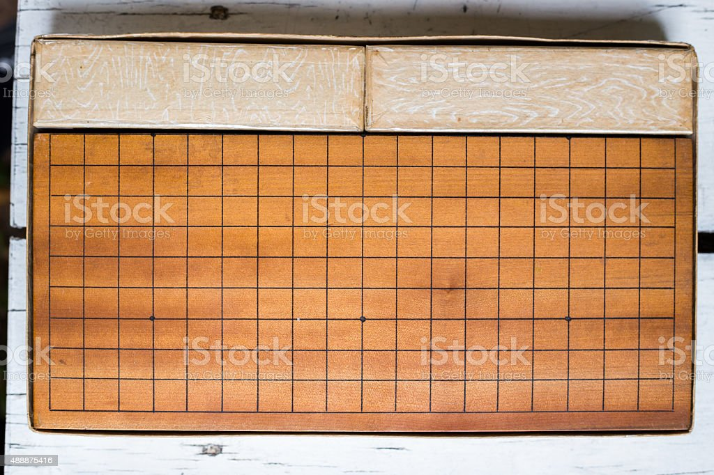 Baduk is a game. stock photo