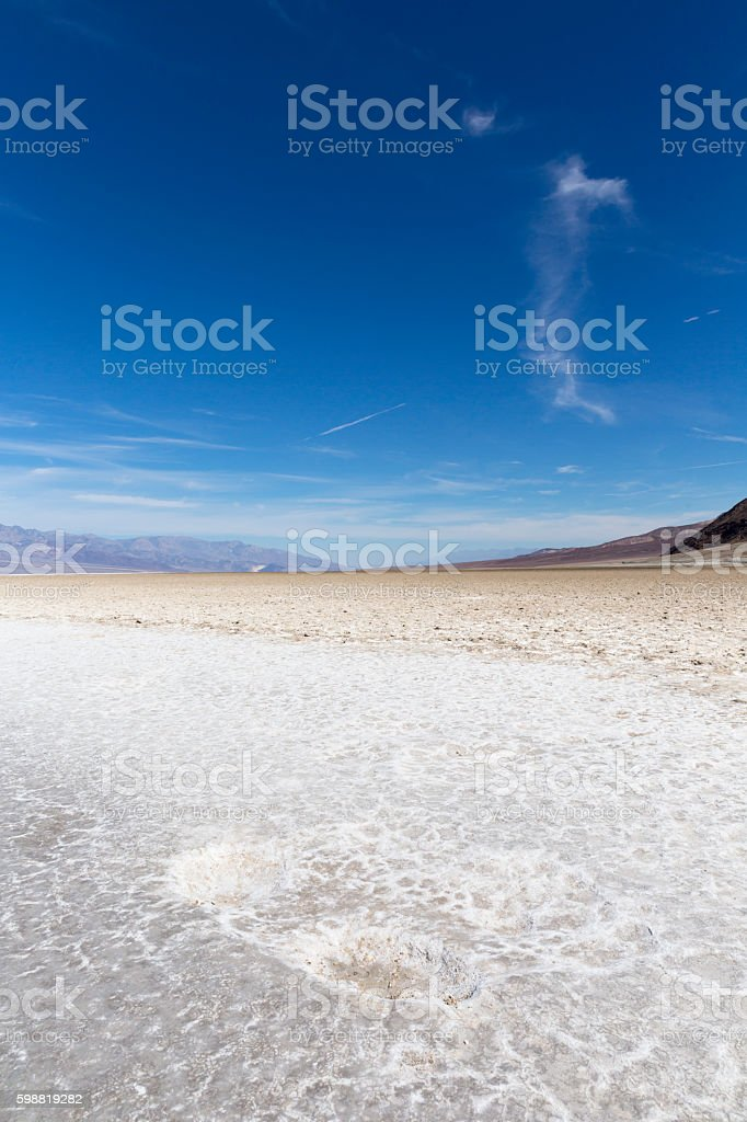 Badwater Basin, Death Valley National Park, California, USA stock photo