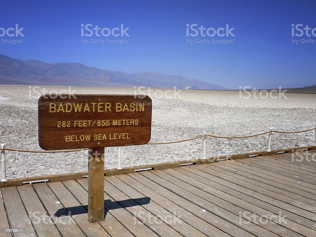 Badwater Basin - Death Valley   National Park royalty-free stock photo