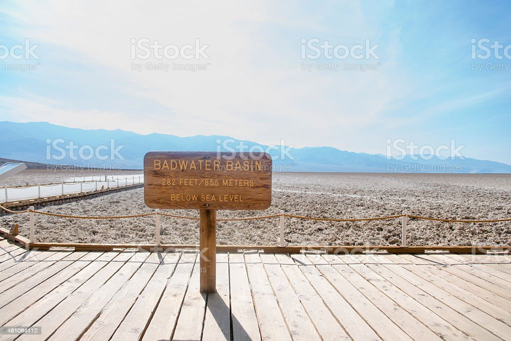Badwater Basin Death Valley stock photo