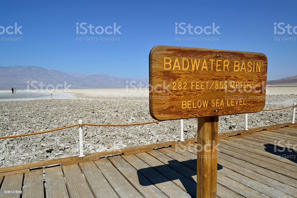 Badwater Basin - Death Valley stock photo