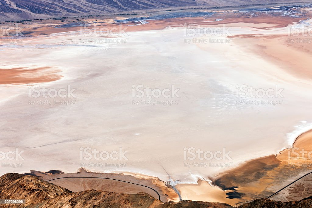 Badwater Basin in Death Valley California, USA stock photo