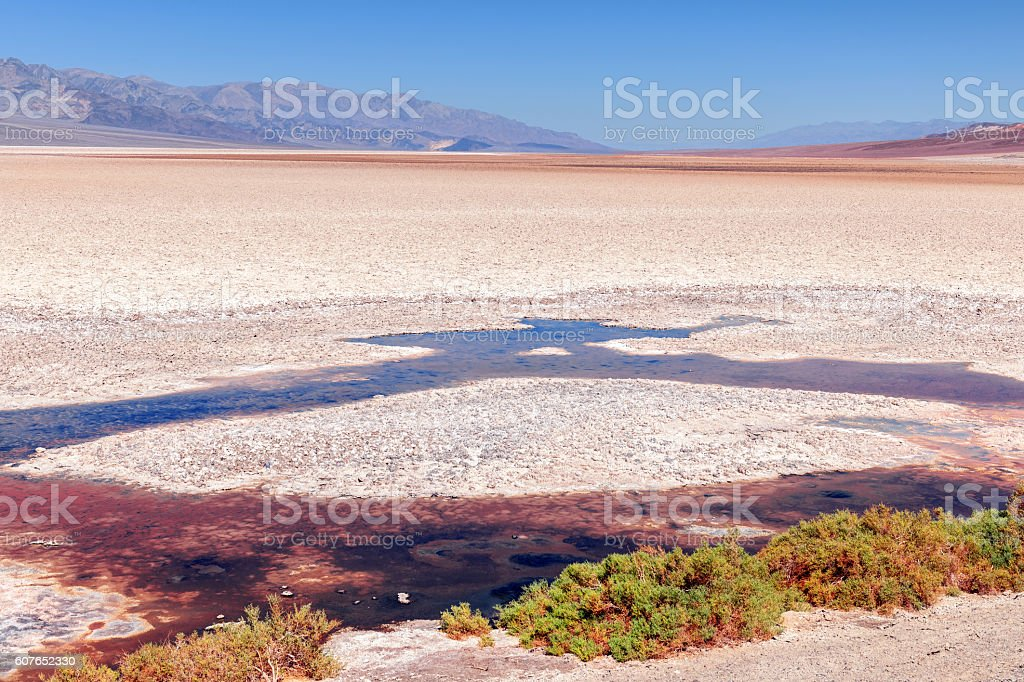 Badwater Basin in Death Valley California USA stock photo