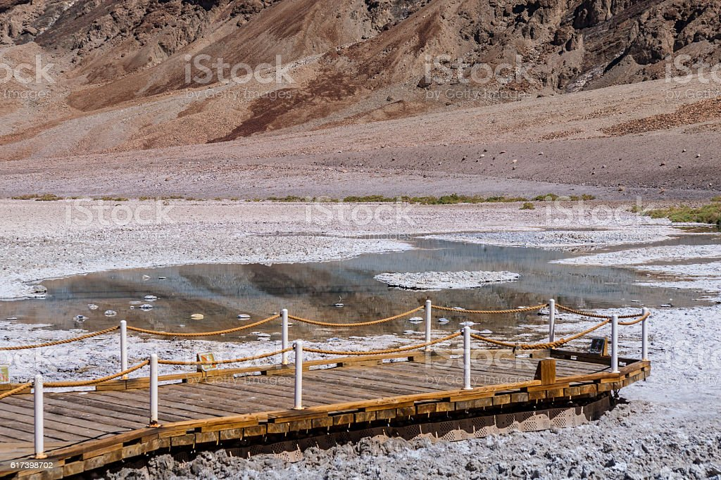 Badwater Basin in Death Valley National Park, California stock photo