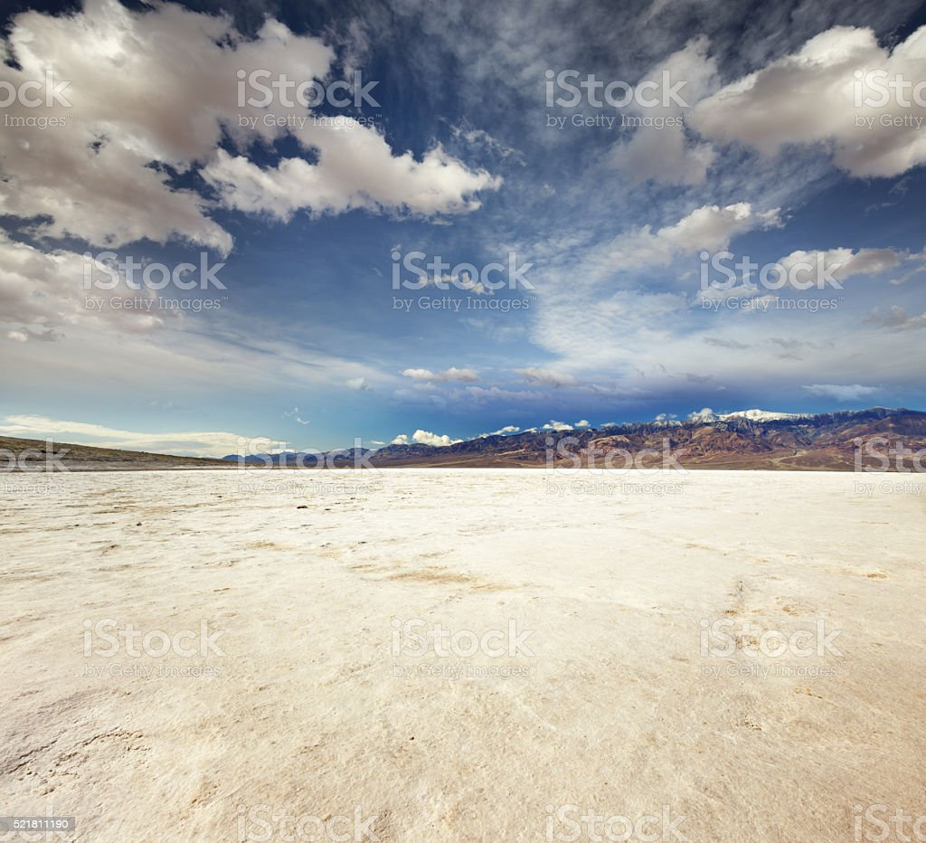 badwater basin in Death Valley National Park stock photo