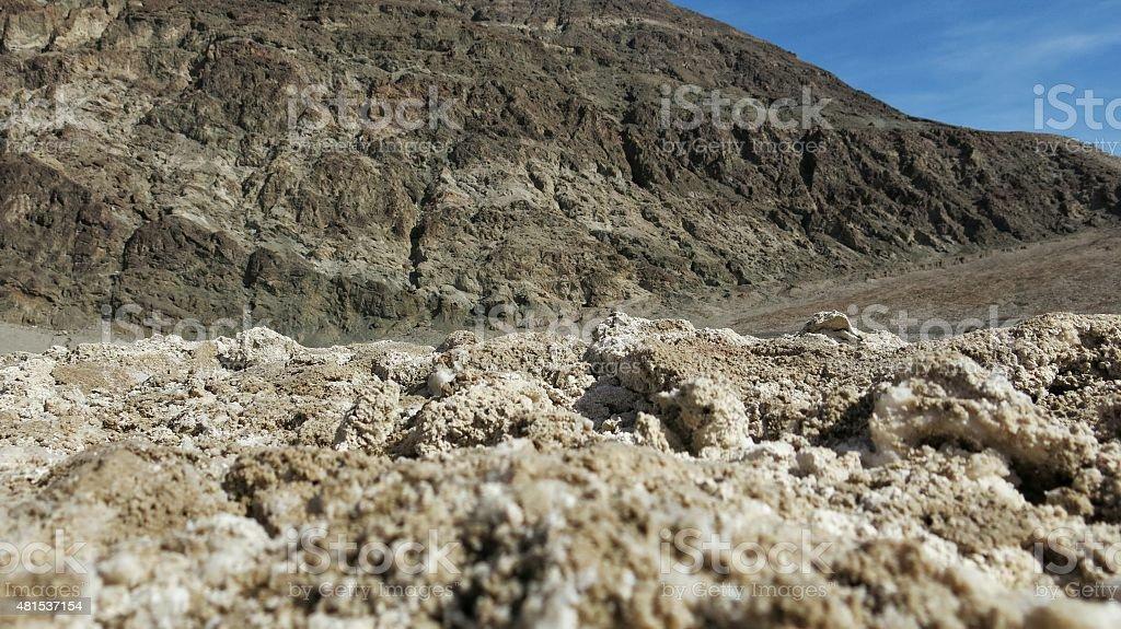 Badwater Basin Salt Flats, Death Valley National Park, California stock photo