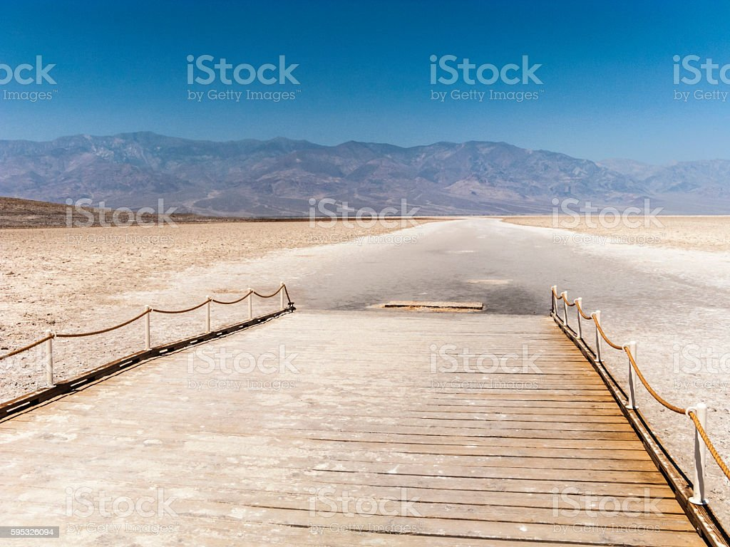 Badwater, deepest point in the USA in death valley stock photo