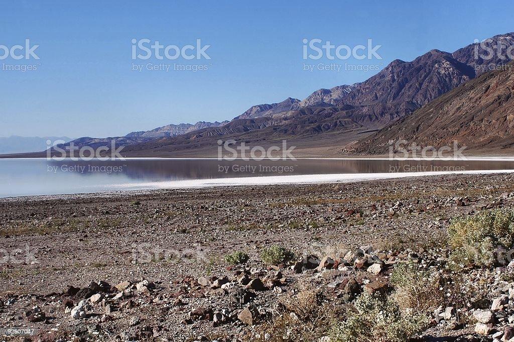 Badwater Lake royalty-free stock photo