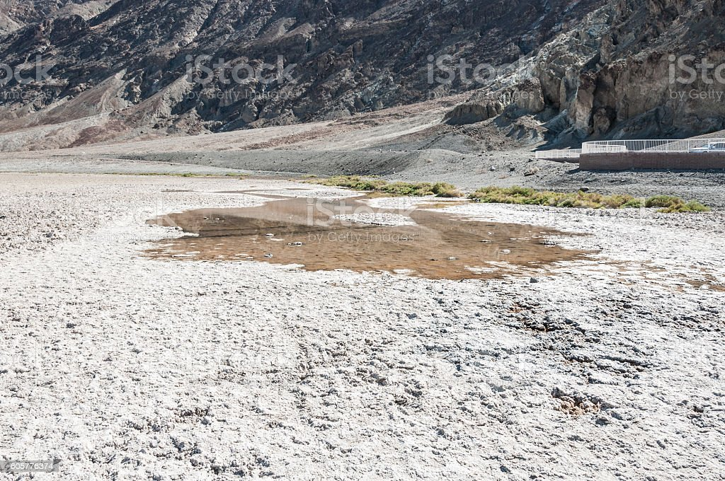 Badwater pool in Death Valley National Park, California stock photo