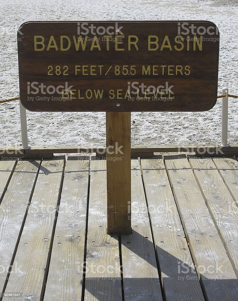 Badwater Sign stock photo