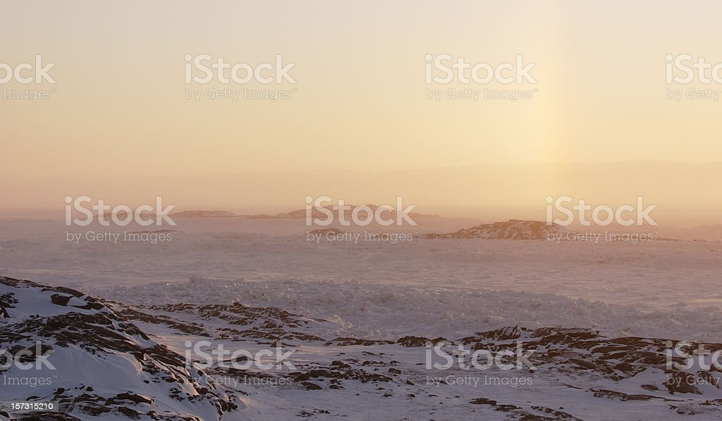 Baffin Island, Nunavut, Canada, in Winter. stock photo