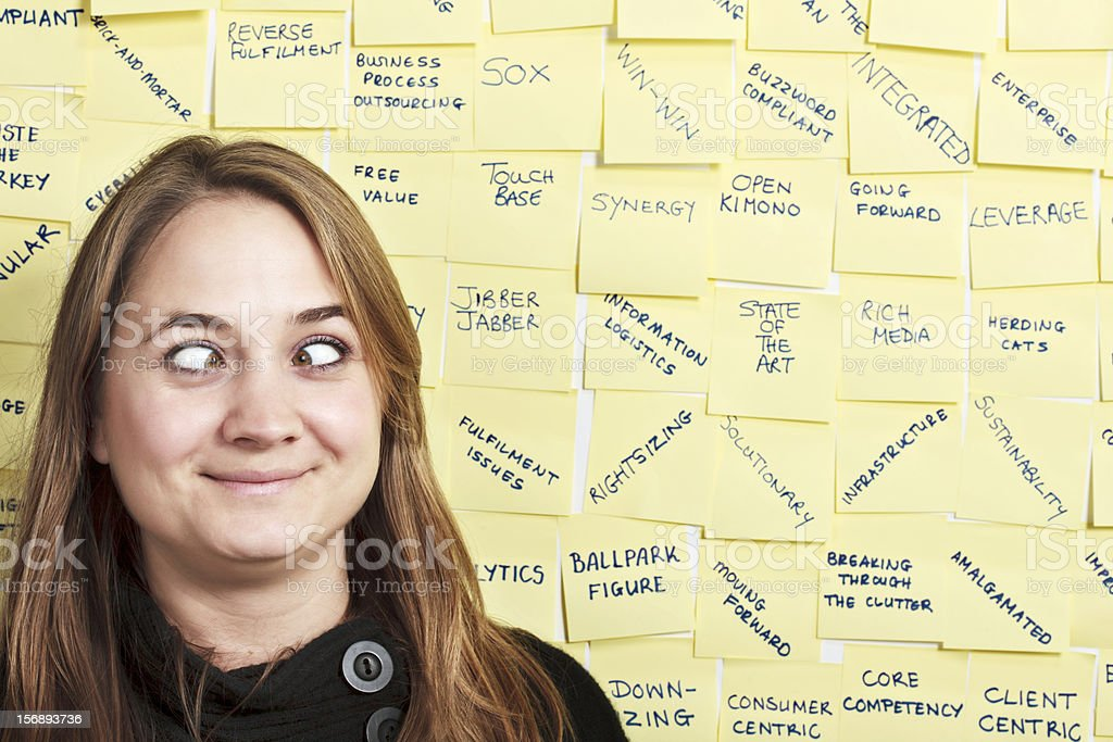 Baffled by the business buzzwords! stock photo