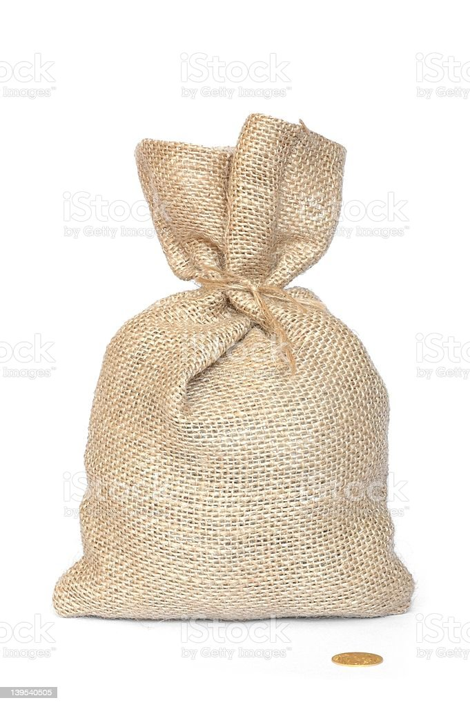 Bag and Coin royalty-free stock photo