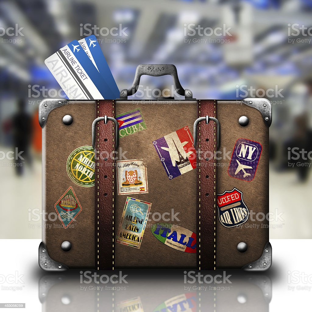 Bag and trip stock photo