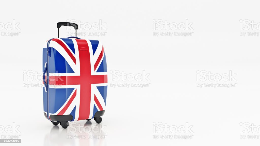 Bag british flag. Flags of the United Kingdom. stock photo