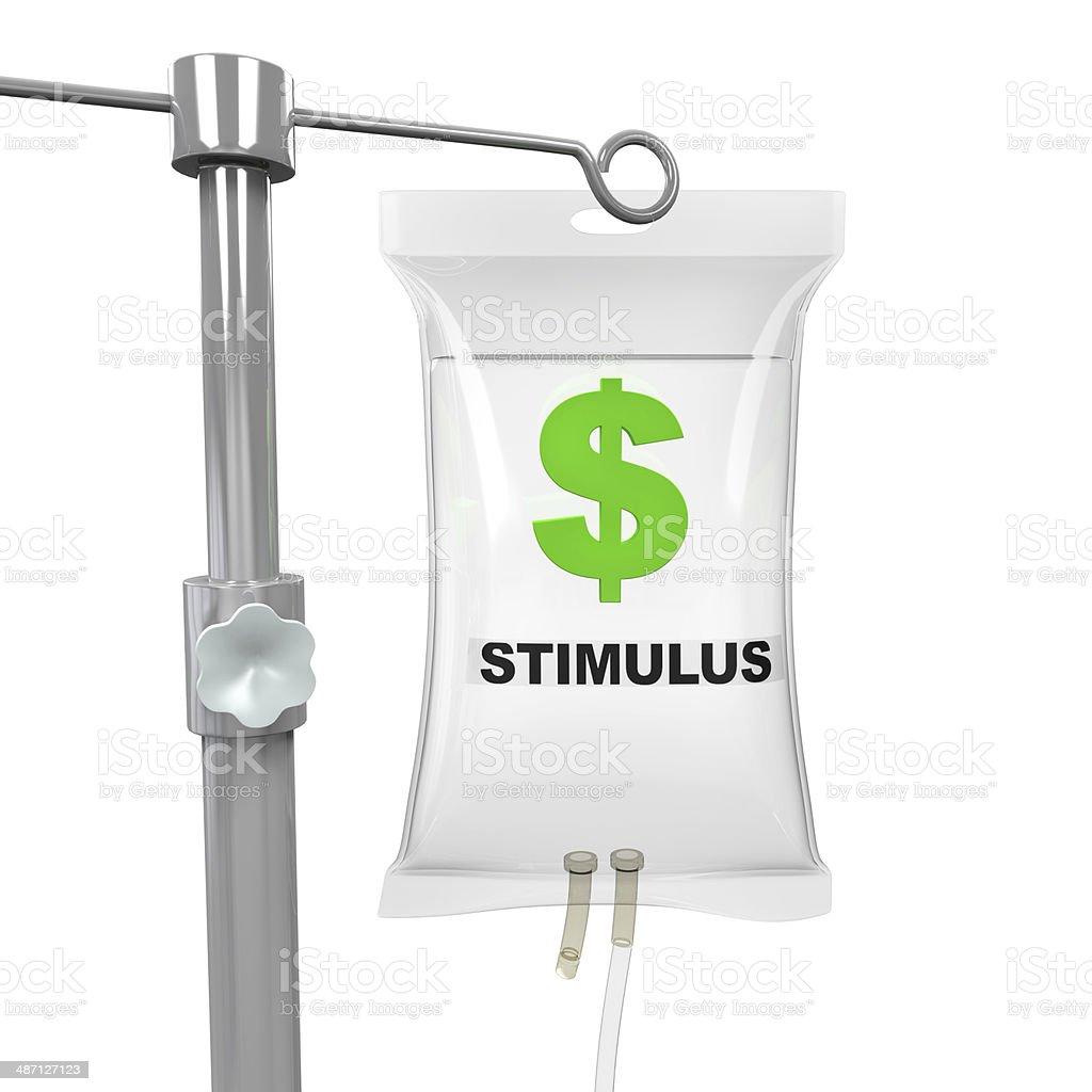IV Bag Economic Stimulus Illustration stock photo