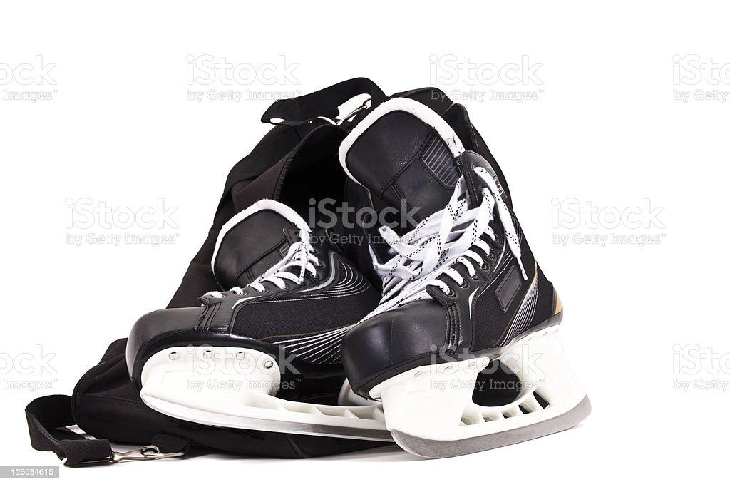 bag for pair of hockey skates royalty-free stock photo