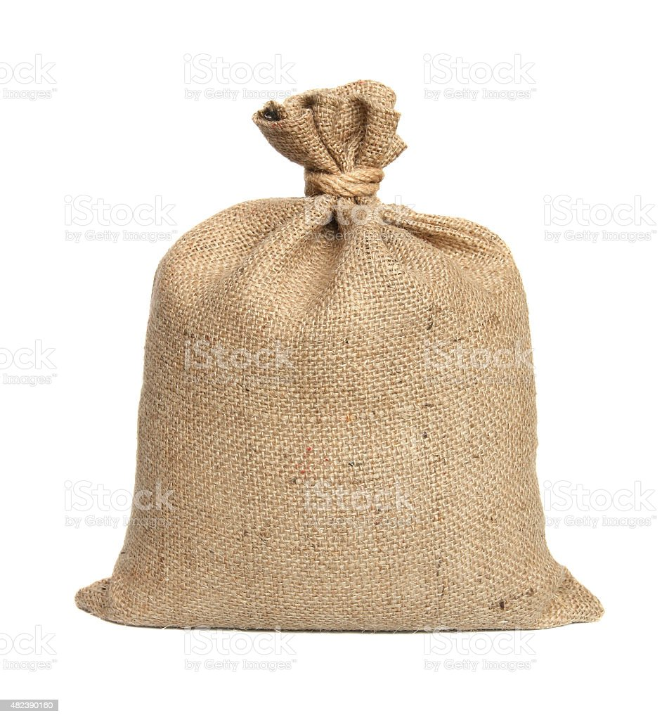 Bag from a sacking. stock photo