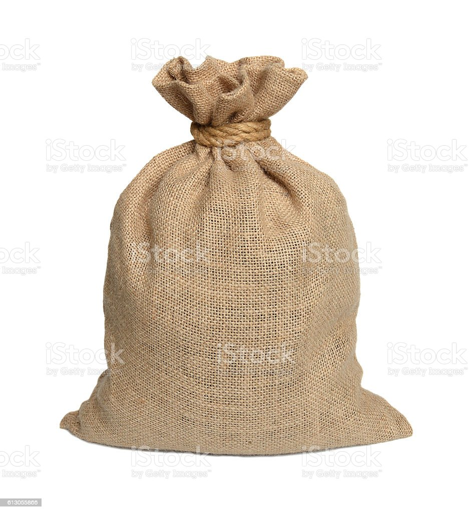 Bag from a sacking stock photo