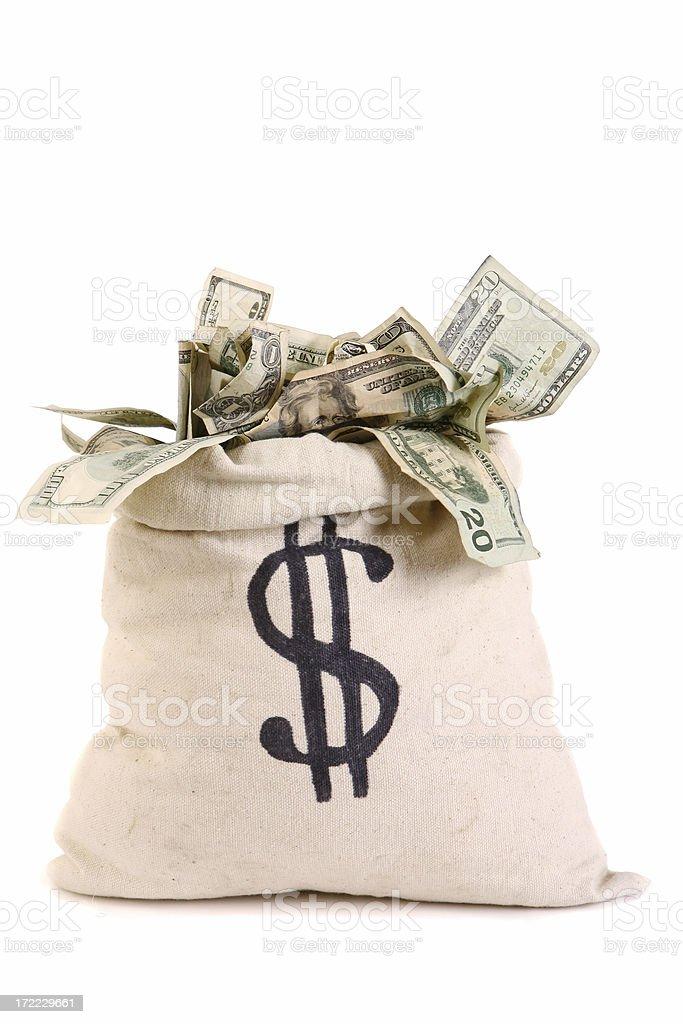 Bag full of Money stock photo
