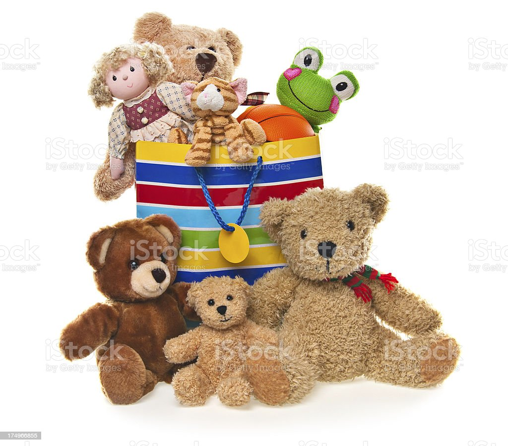 Bag Full of Toys and Stuffed Animals