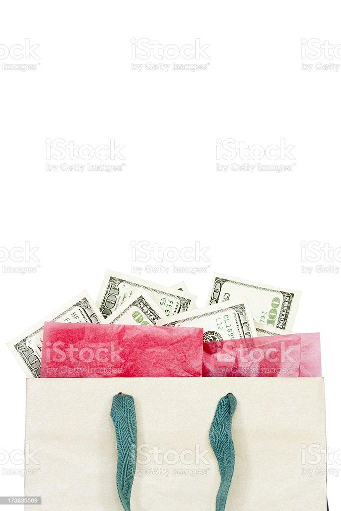 Bag O' Money royalty-free stock photo