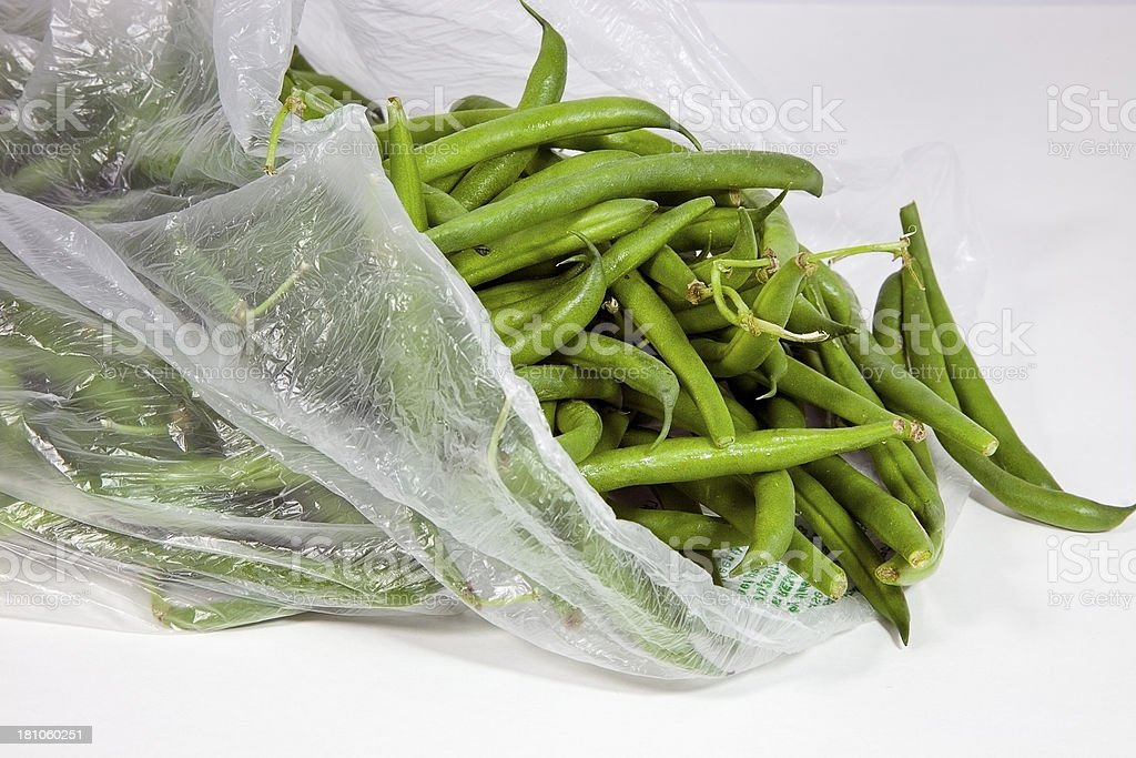 Bag of Beans royalty-free stock photo