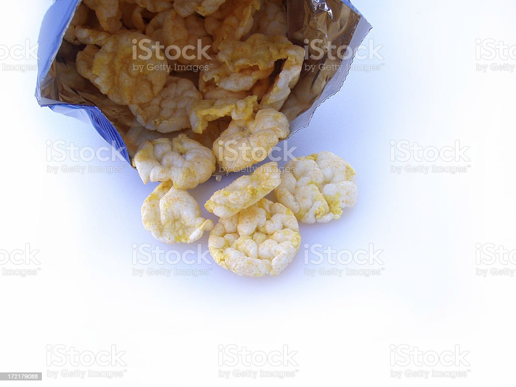 Bag of Chips - Miniature Rice Cakes royalty-free stock photo