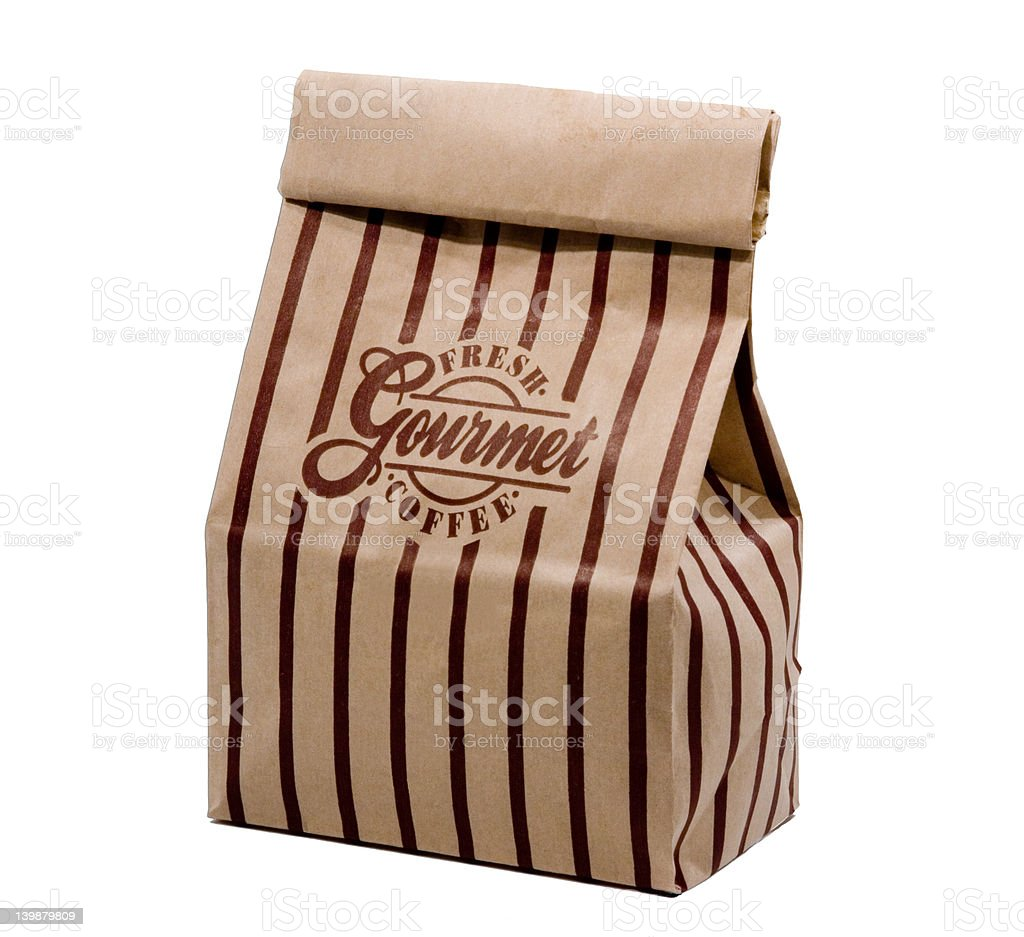 Bag of Coffee (Isolated) royalty-free stock photo