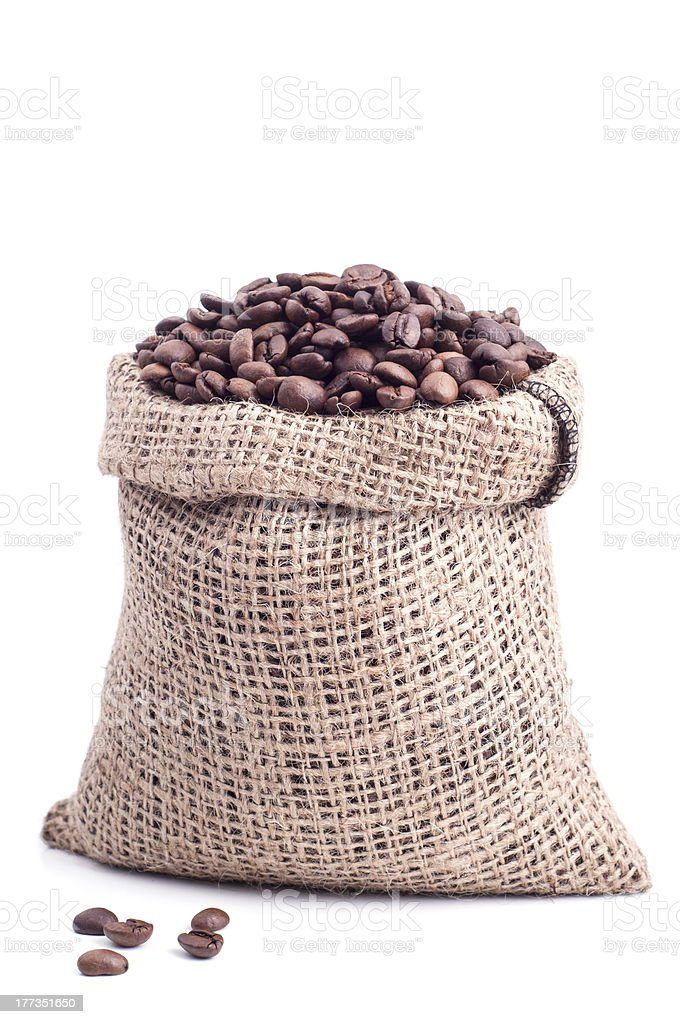 Bag of coffee royalty-free stock photo
