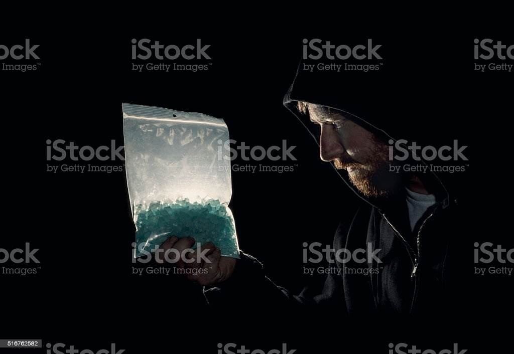 Bag of Drugs stock photo