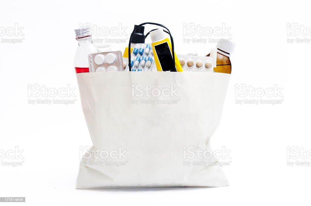 Bag of expired drugs stock photo