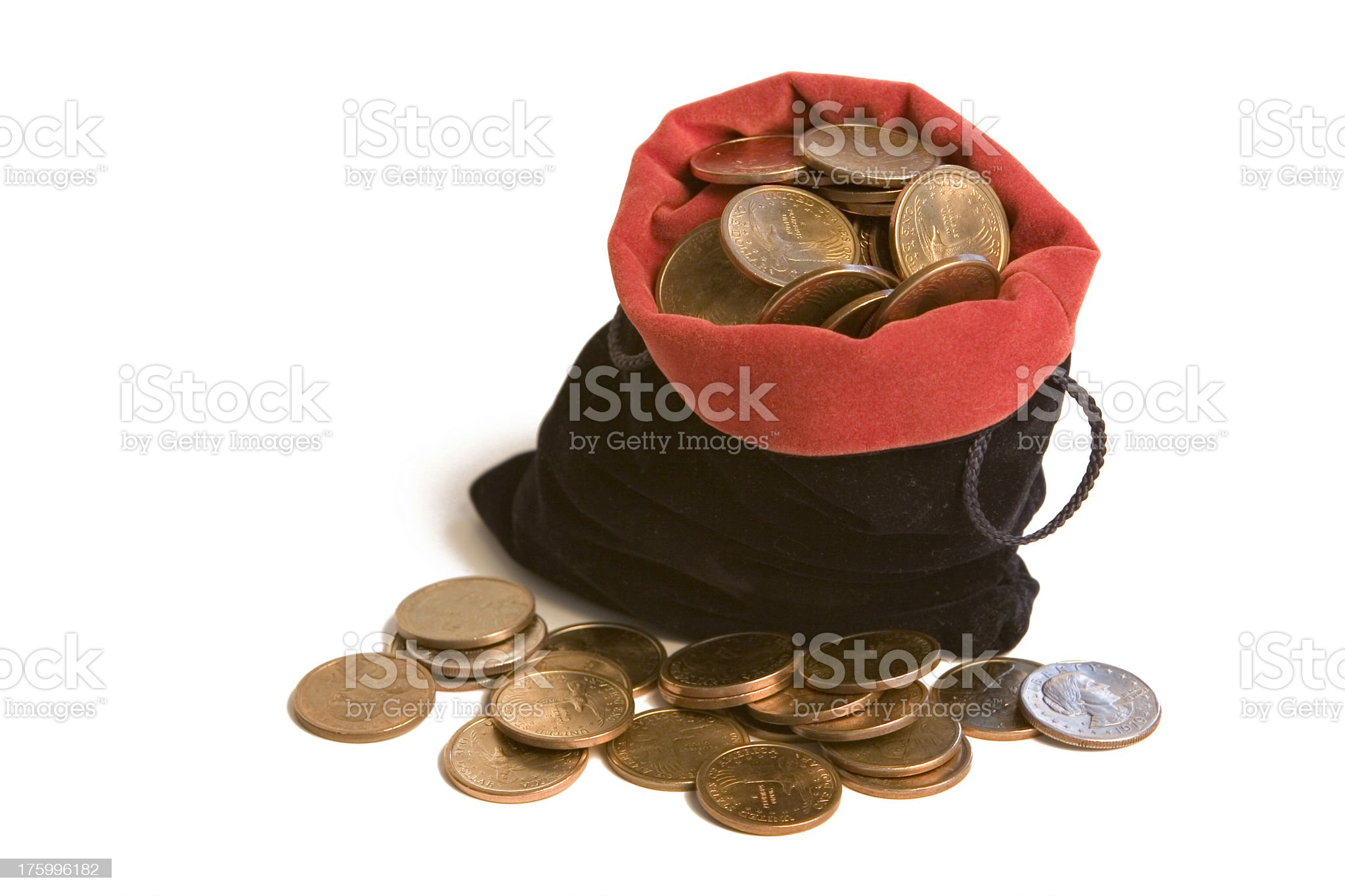 Bag of gold royalty-free stock photo
