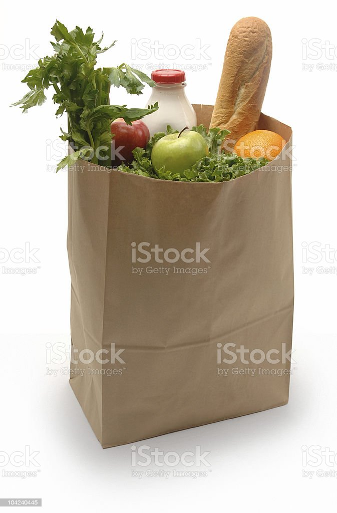 Bag of Groceries stock photo