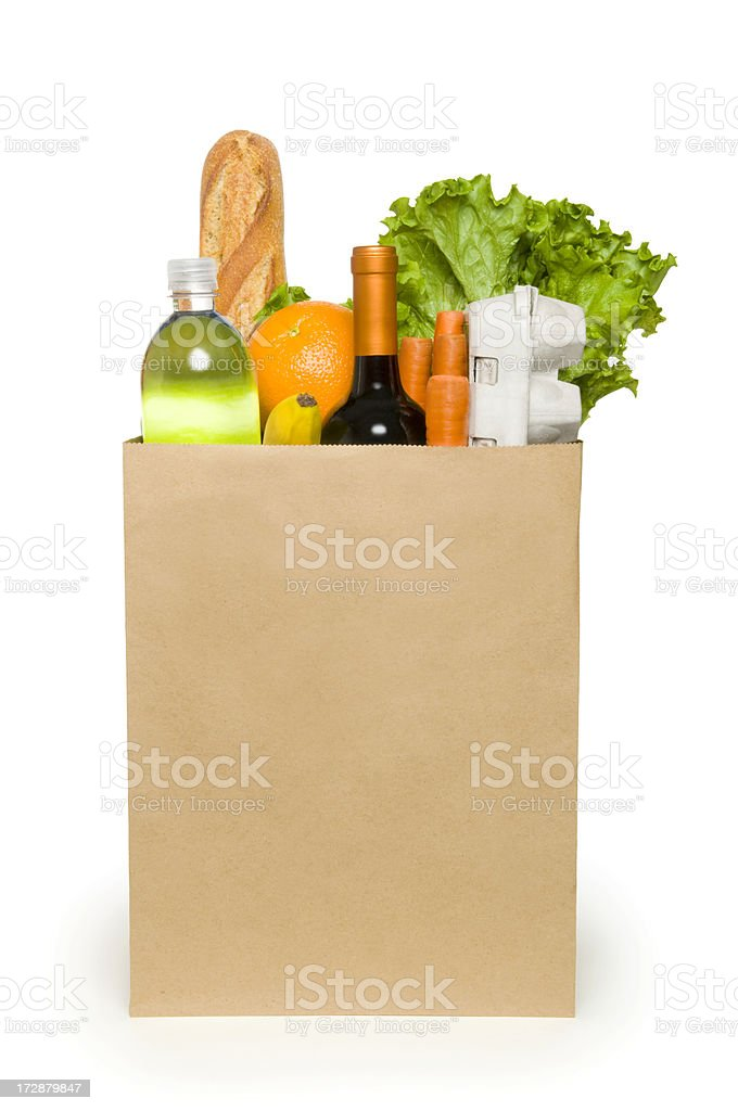 Bag of Groceries royalty-free stock photo