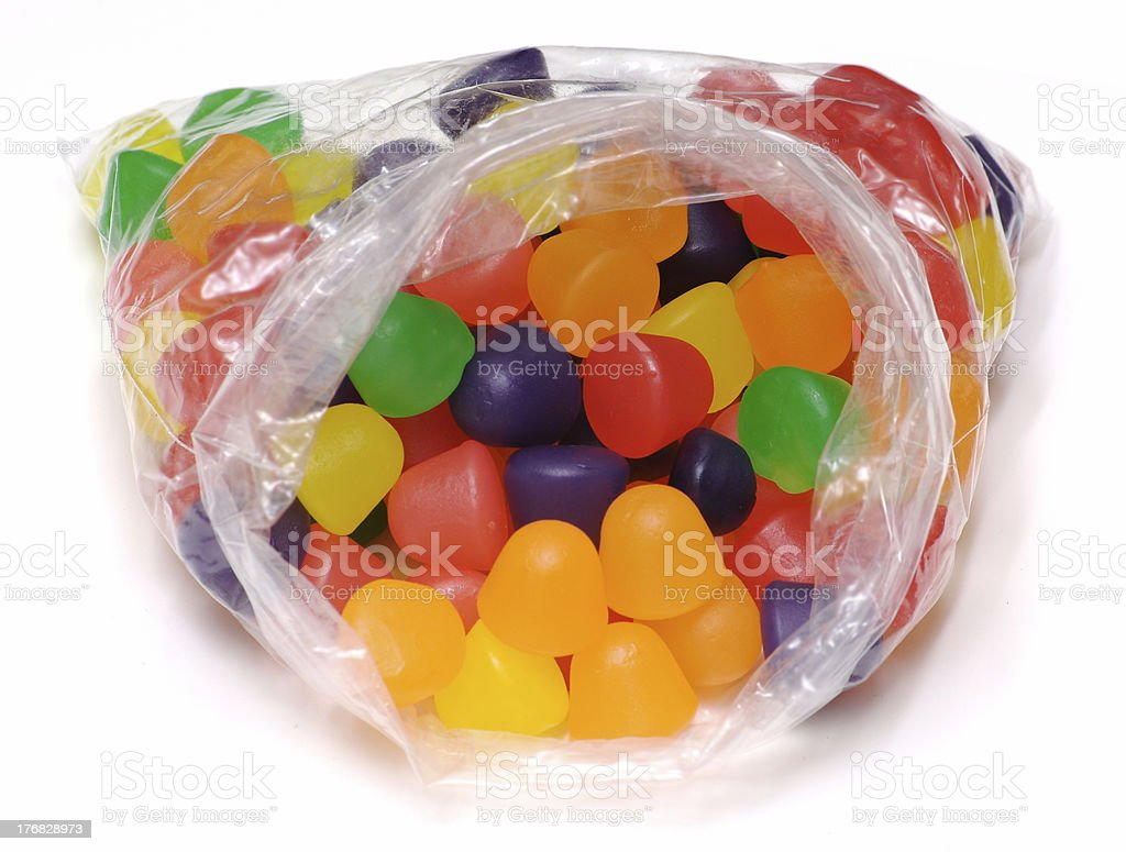 Bag of Gumdrops - Isolated stock photo