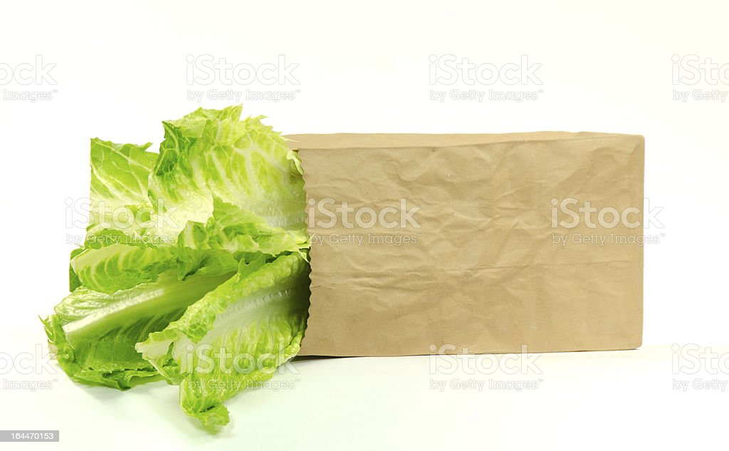 Bag of  Lettuce- Isolated stock photo