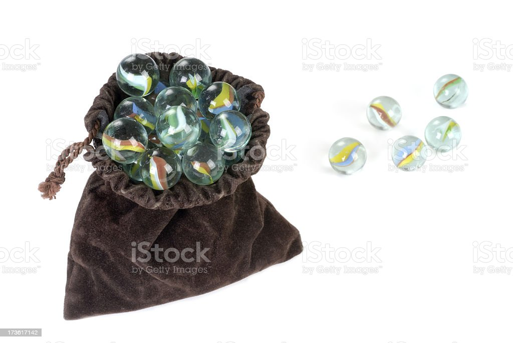 Bag of Marbles royalty-free stock photo