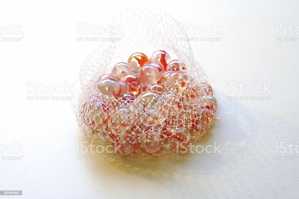 Bag of Marbles stock photo
